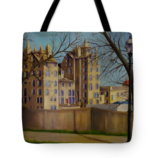 Tote Bag featuring the painting Mercer Museum by Oz Freedgood