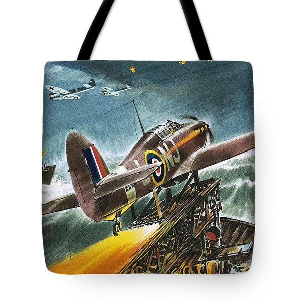 Merchant Navy Fighter Tote Bag