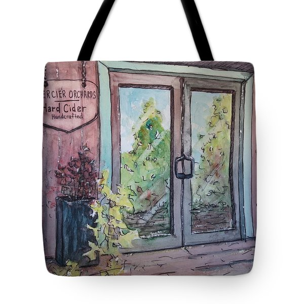 Mercier Orchards' Cider Tote Bag by Gretchen Allen