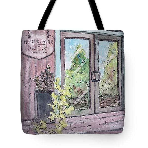 Mercier Orchard's Hard Cider Tote Bag by Gretchen Allen