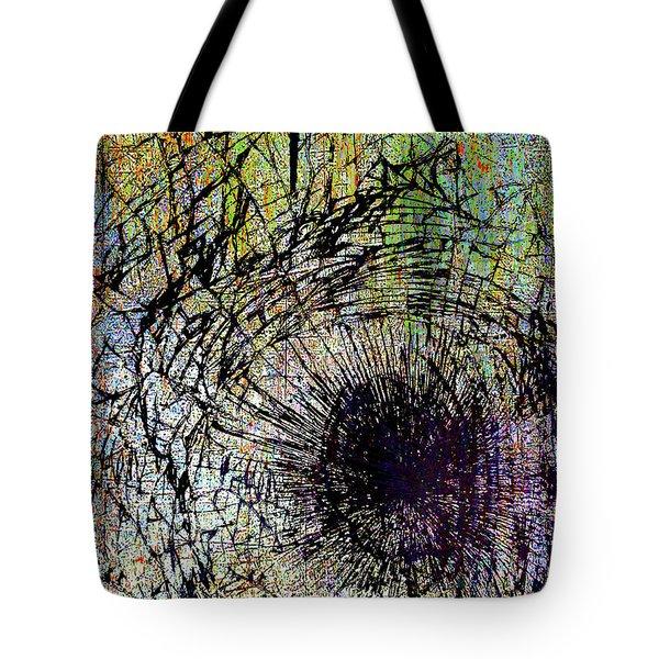 Tote Bag featuring the mixed media Mercy by Tony Rubino