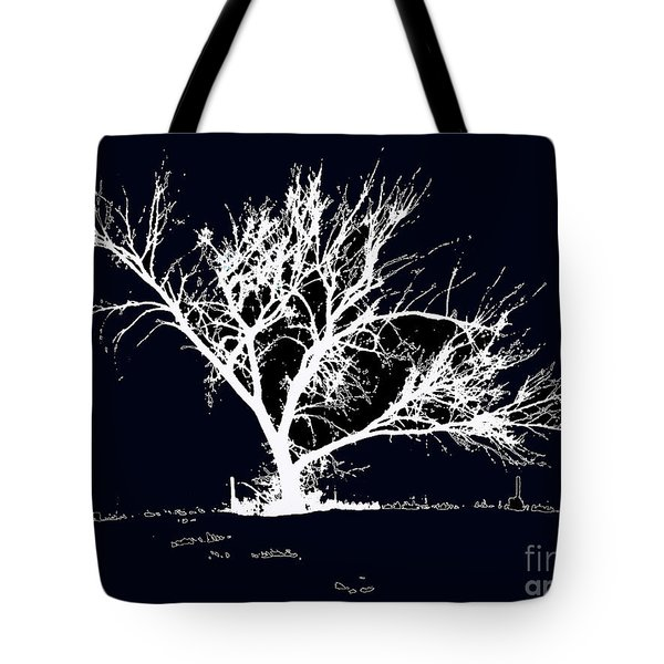 Meredith White Tote Bag
