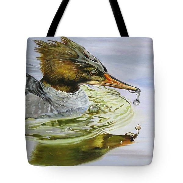 Merganser Ripples Tote Bag by Phyllis Beiser