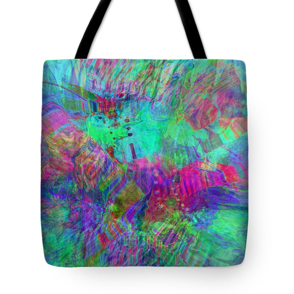 Tote Bag featuring the digital art Merged 1 by Kate Word