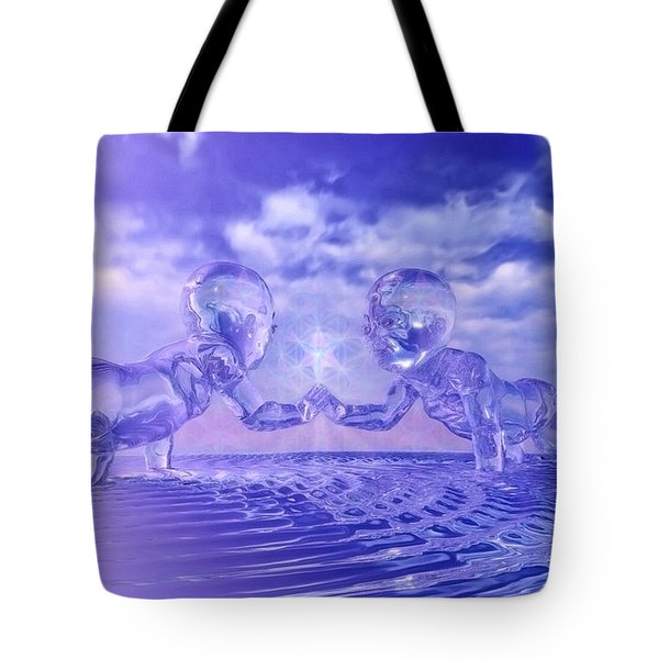 Merkaba Babies Tote Bag by Robby Donaghey