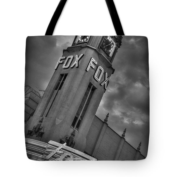 Merle Haggard Rip Fox Theater Black And White Tote Bag