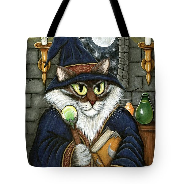 Merlin The Magician Cat Tote Bag