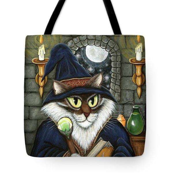 Merlin The Magician Cat Tote Bag
