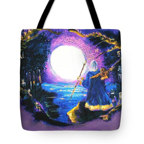 Merlin's Moon Tote Bag by Seth Weaver