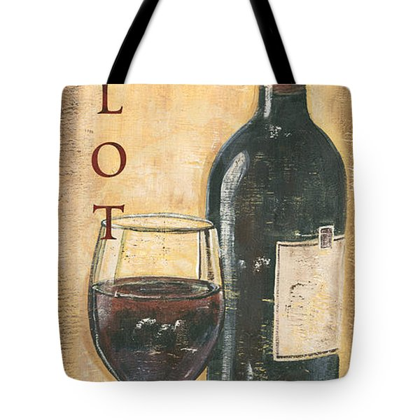 Merlot Wine And Grapes Tote Bag
