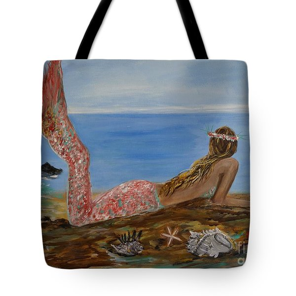 Mermaid Beauty Tote Bag by Leslie Allen