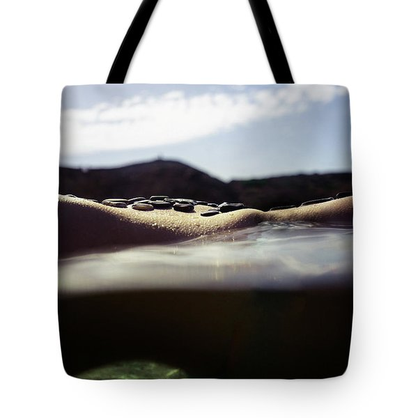 Mermaid Curves In Nature Tote Bag
