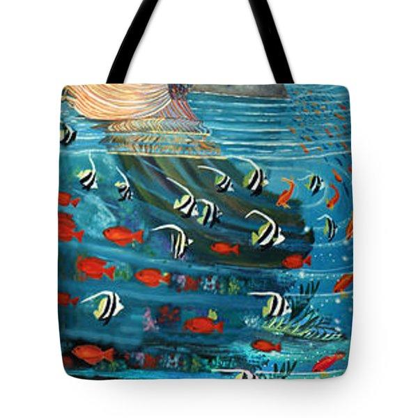 Mermaid In Paradise Tote Bag