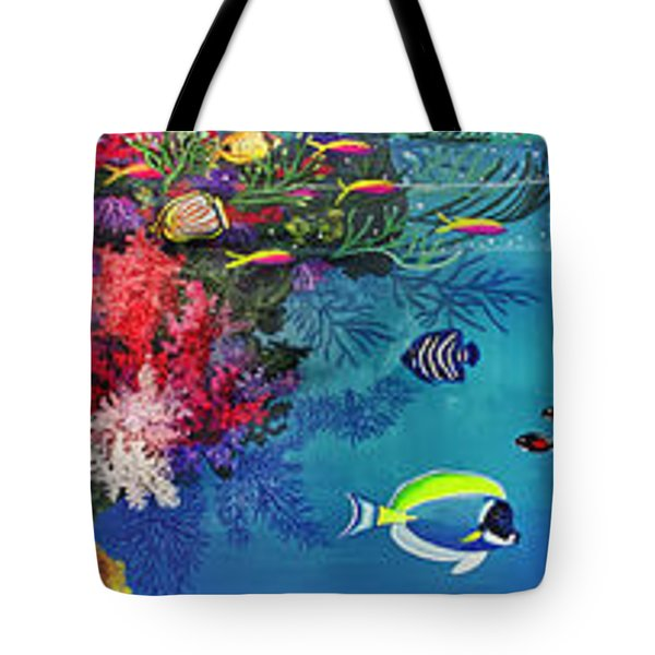 Mermaid In Paradise Complete Underwater Descent Tote Bag