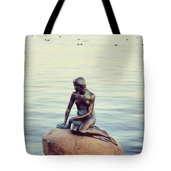 Peaceful Mermaid  Tote Bag