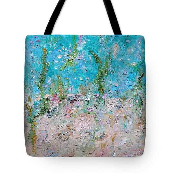 Tote Bag featuring the painting Mermaid Meditation by Judith Rhue