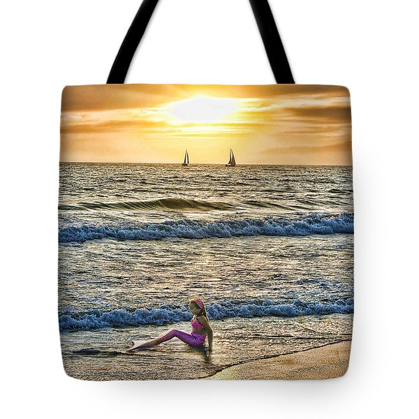 Mermaid Of Venice Tote Bag by Michael Cleere