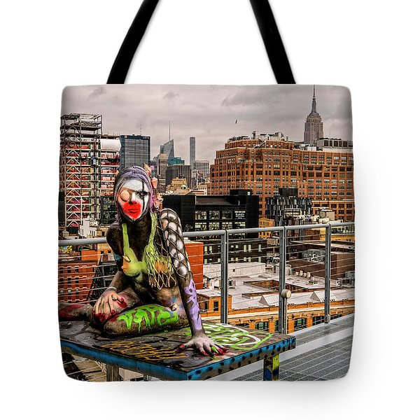 Mermaid On The Whitney Tote Bag