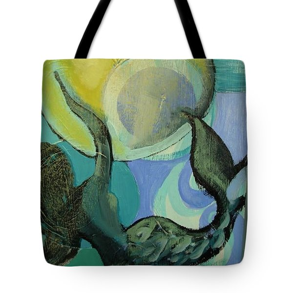Mermaid Playing With The Sun  Tote Bag