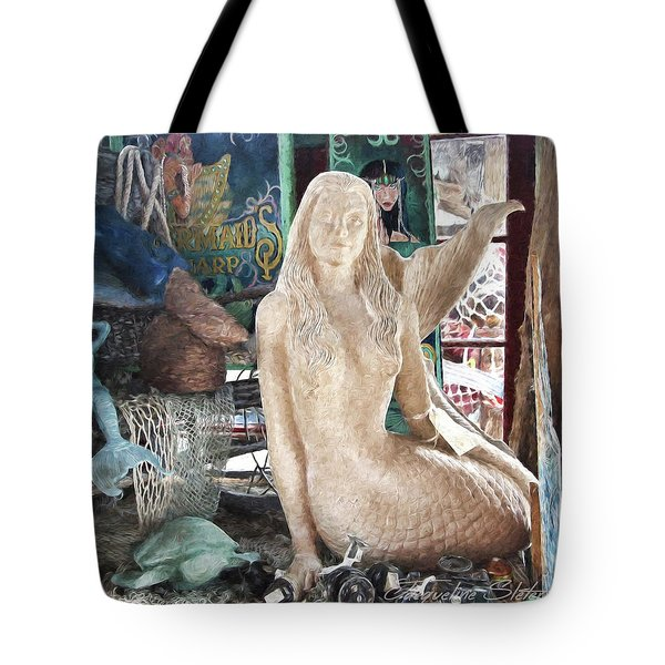 Mermaid Pondering Tote Bag