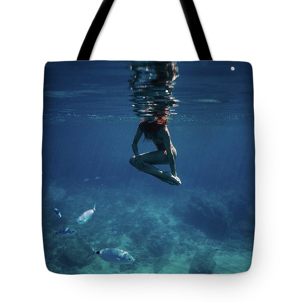 Mermaid Pose Tote Bag