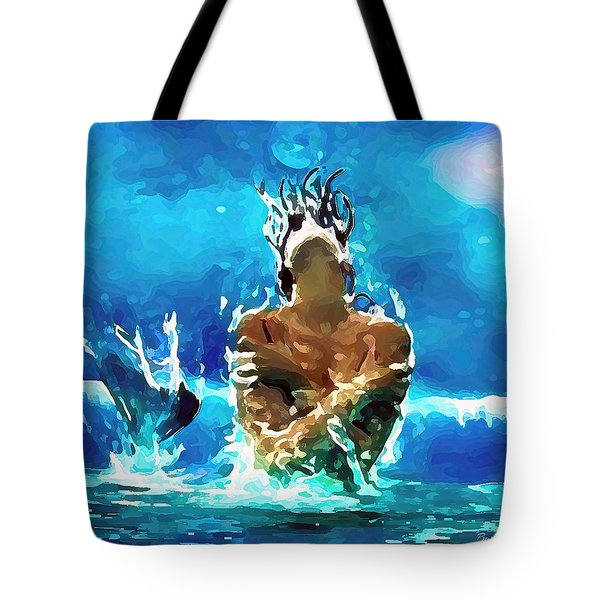 Mermaid Under The Moonlight Tote Bag