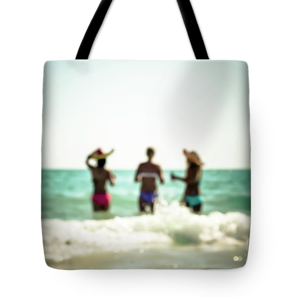 Tote Bag featuring the photograph Mermaids by Hannes Cmarits