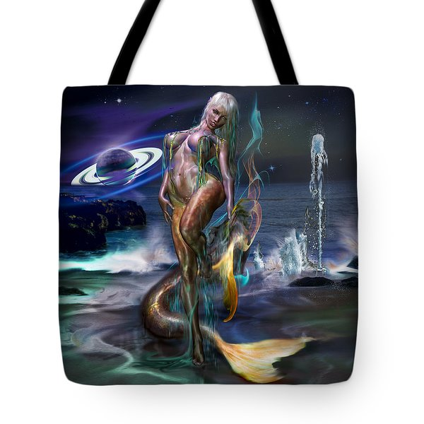 Tote Bag featuring the photograph Mermaids Moon Light by Glenn Feron