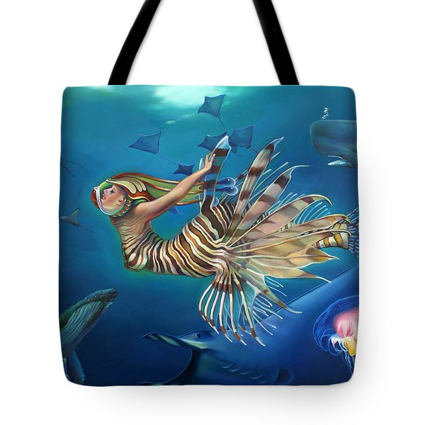 Mermalien Odyssey Tote Bag by Patrick Anthony Pierson