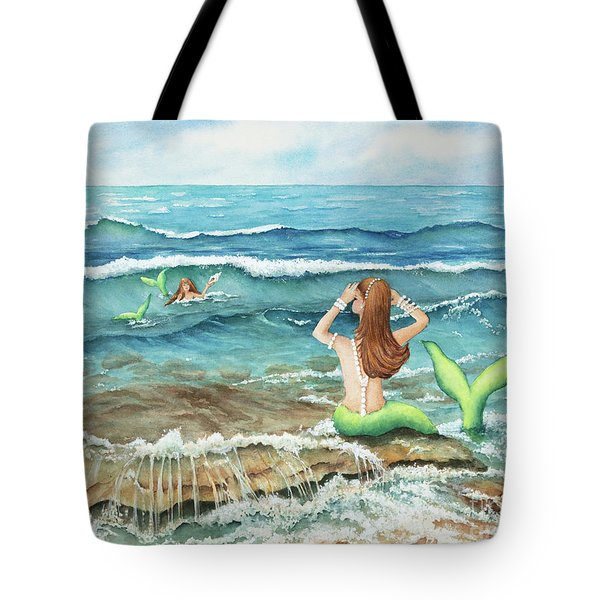 Mermomma Of Two Tote Bag