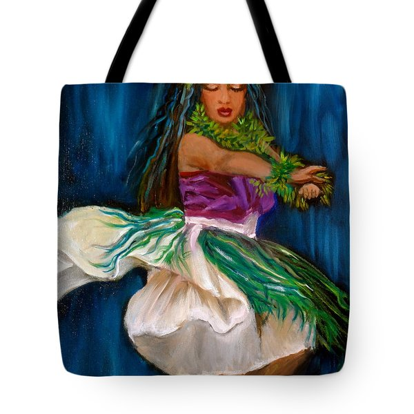 Merrie Monarch Hula Tote Bag by Jenny Lee