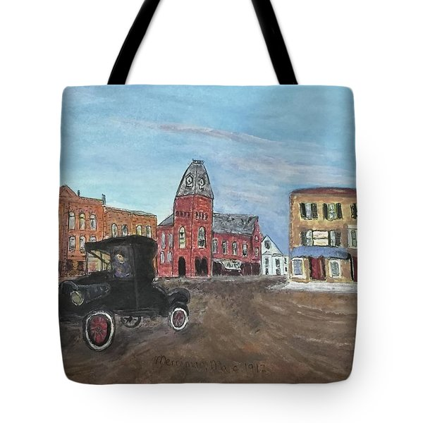 Old New England Town Tote Bag