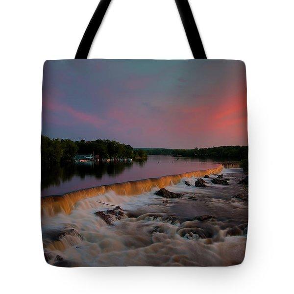 Merrimack River Falls Tote Bag