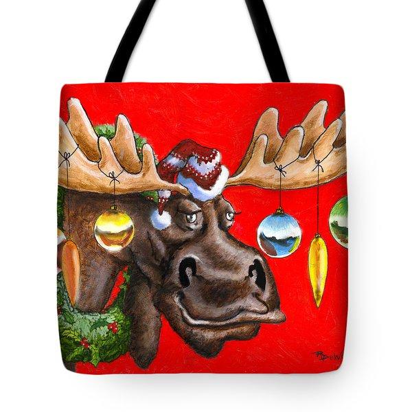 Merry Chris Moose Tote Bag