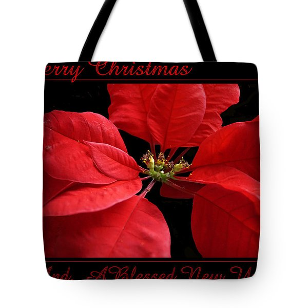 Tote Bag featuring the photograph Merry Christmas 2015 by Judy Johnson