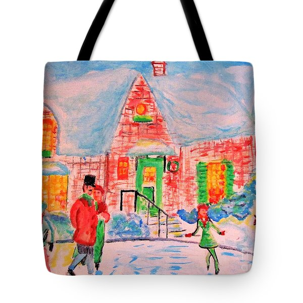 Merry Christmas And Happy Holidays Tote Bag