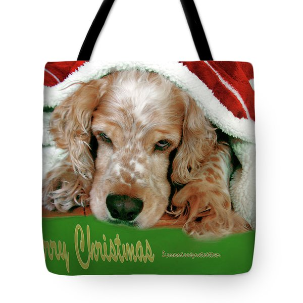 Merry Christmas Art 32 Tote Bag