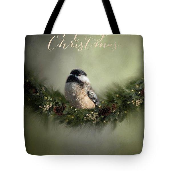 Merry Christmas Chicadee 1 Tote Bag