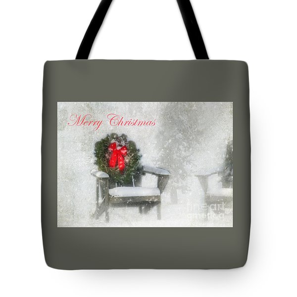 Merry Christmas Tote Bag by Clare VanderVeen