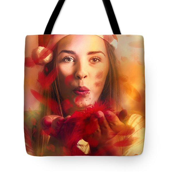 Merry Christmas Elf Tote Bag by Jorgo Photography - Wall Art Gallery