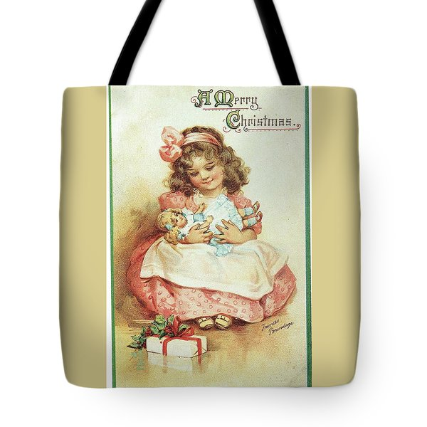 Merry Christmas For My Dolly Tote Bag