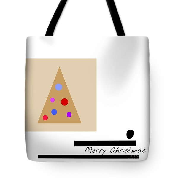Tote Bag featuring the mixed media Merry Christmas by Jessica Eli