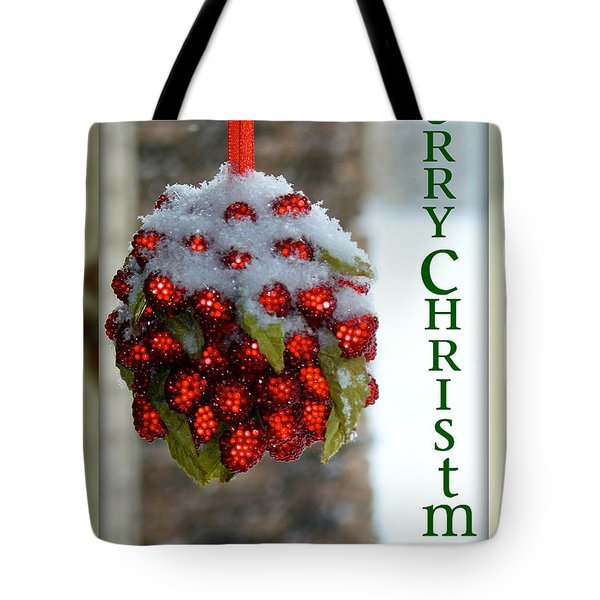 Merry Christmas Tote Bag by Lisa Knechtel