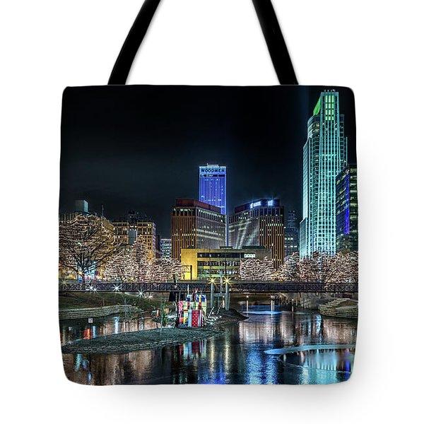 Merry Christmas Omaha Tote Bag