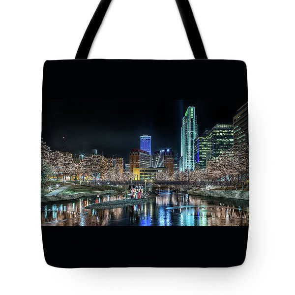 Merry Christmas Omaha Tote Bag
