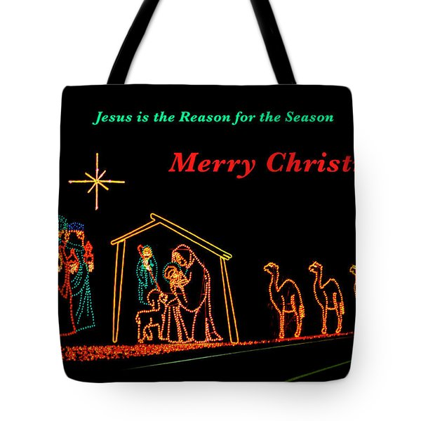 Tote Bag featuring the photograph Merry Christmas by Penny Lisowski