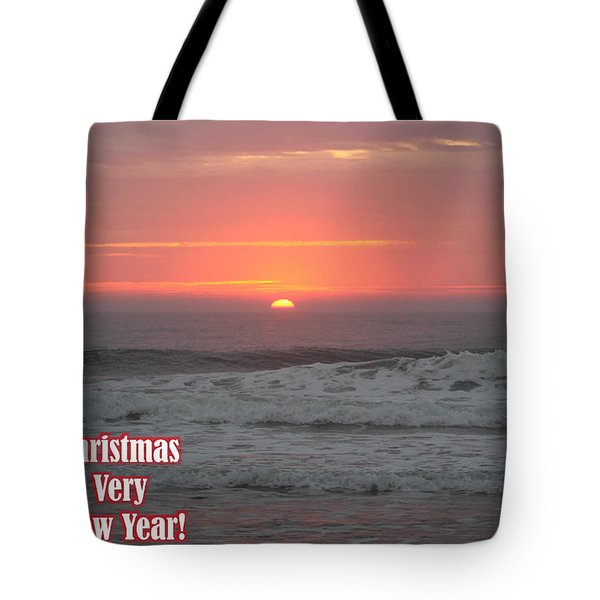 Merry Christmas Sunrise  Tote Bag by Robert Banach
