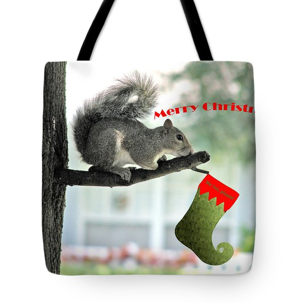 Merry Christmas To All Tote Bag by Adele Moscaritolo