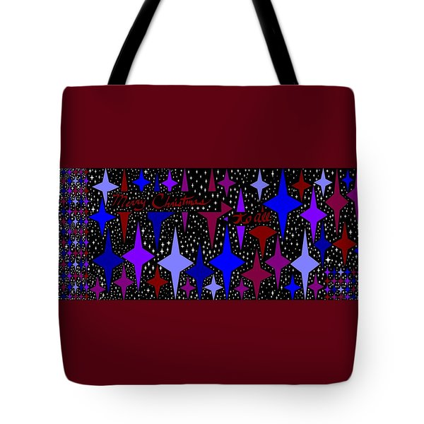 Merry Christmas To All, Starry, Starry Night Tote Bag by Linda Velasquez