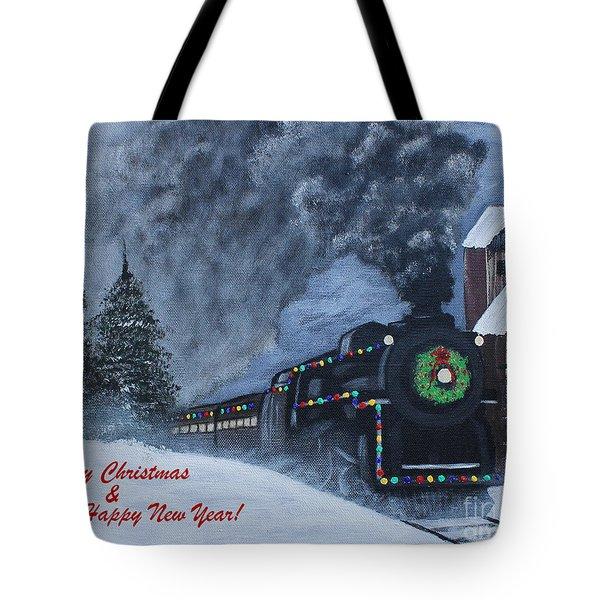 Merry Christmas Train Tote Bag